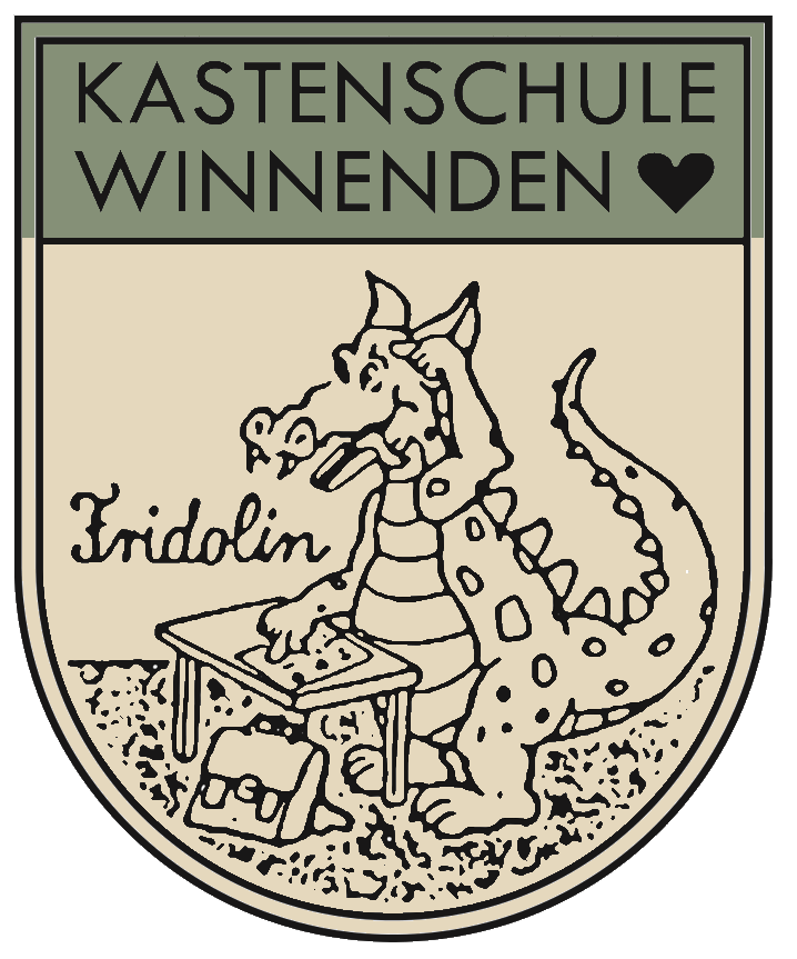 Kastenschule: Unser Schulmaskottchen Fridolin